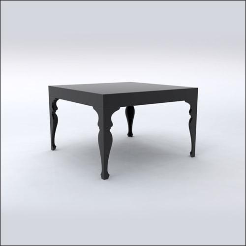 4x4x30 Neo-Baroque Table (BLACK)