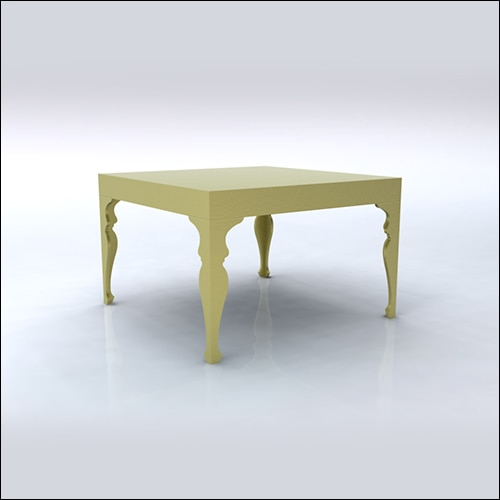 4x4x30 Neo-Baroque Table (GOLD)