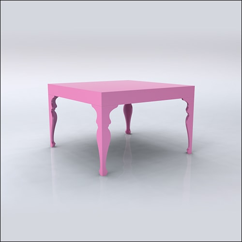4x4x30 Neo-Baroque Table (PINK)