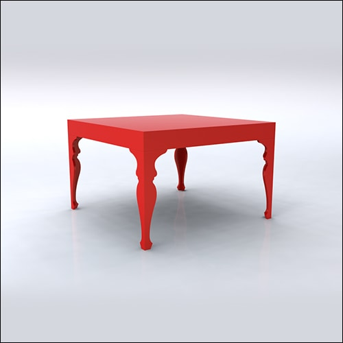 4x4x30 Neo-Baroque Table (RED)