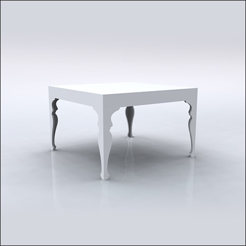 4x4x30 Neo-Baroque Table (WHITE)