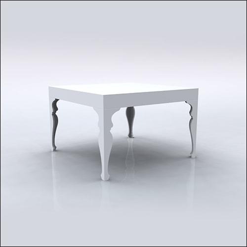 4x4x30 Neo-Baroque Table (WHITE)