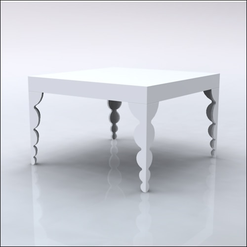 4x4x30-Bubble Table-WHT-001