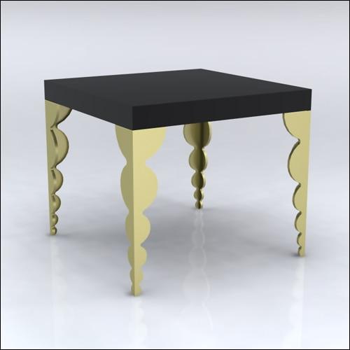 4x4x42-Bubble Table-BLKGLD-001