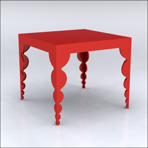 4x4x42-Bubble Table-RED-001