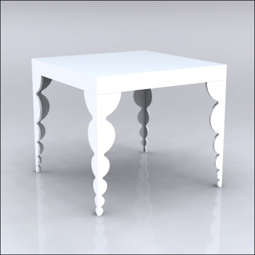 4x4x42-Bubble Table-WHT-001