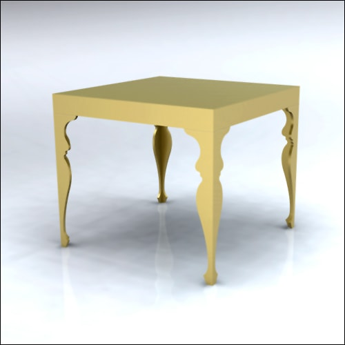 4x4x42-Neo-Baroque Table-GLD-001