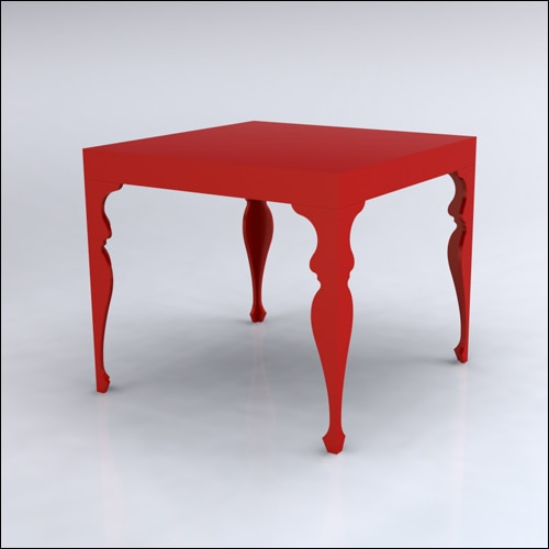4x4x42-Neo-Baroque Table-RED-001