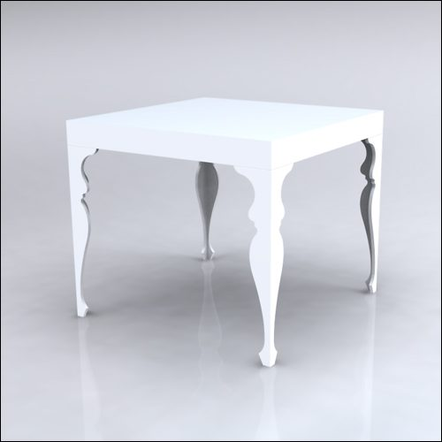 4x4x42-Neo-Baroque Table-WHT-001