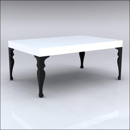 4x6x30-Neo-Baroque Table-BLKWHT-001