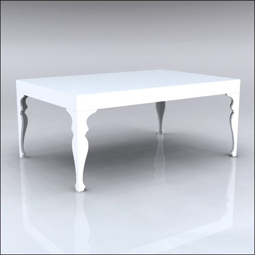 4x6x30-Neo-Baroque Table-WHT-001