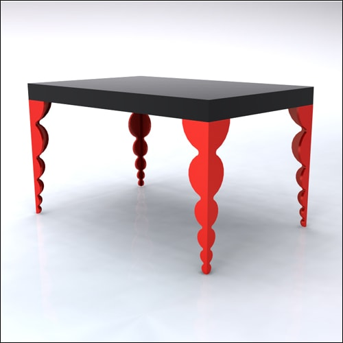 4x6x42-Bubble Table-BLKRED-001