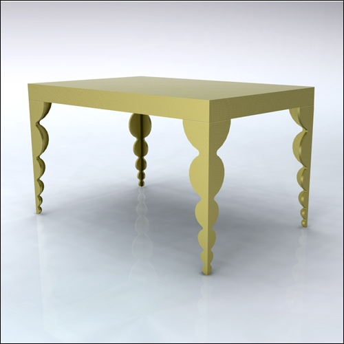 4x6x42-Bubble Table-GLD-001