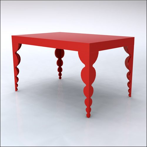 4x6x42-Bubble Table-RED-001