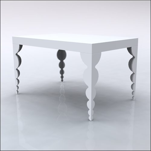 4x6x42-Bubble Table-WHT-001