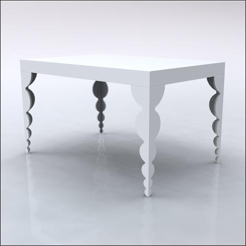 4x6x42-Bubble Table-WHT-001