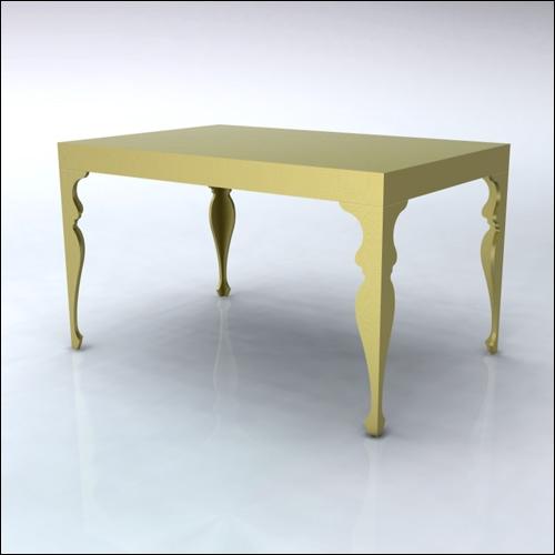 4x6x42-Neo-Baroque Table-GLD-001