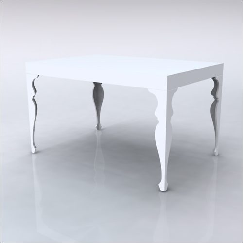4x6x42-Neo-Baroque Table-WHT-001