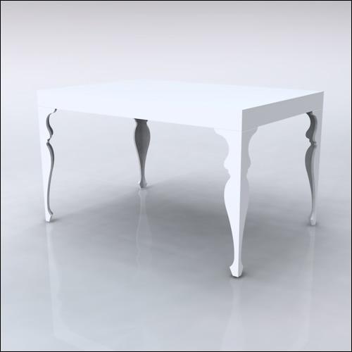 4x6x42-Neo-Baroque Table-WHT-001