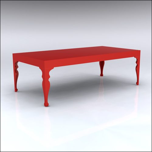 4x8x30-Neo-Baroque Table-RED-001