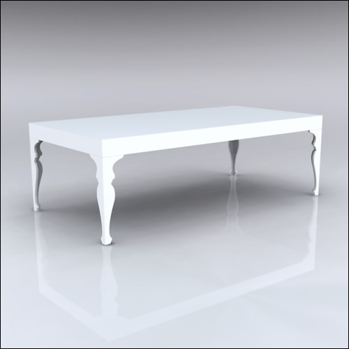 4x8x30-Neo-Baroque Table-WHT-001