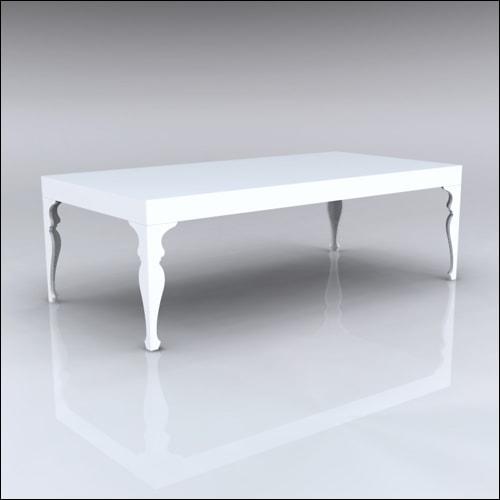 4x8x30-Neo-Baroque Table-WHT-001