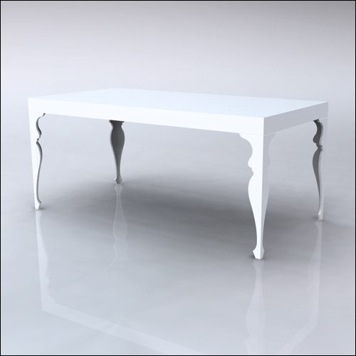 4x8x42-Neo-Baroque Table-WHT-001