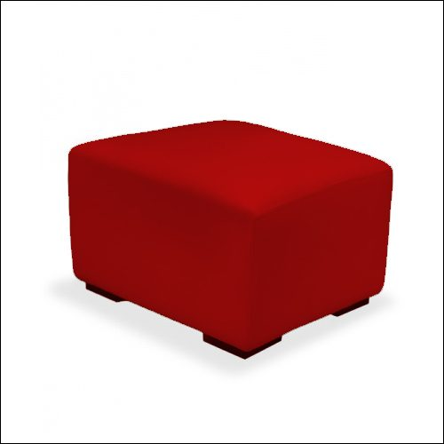 MOD Cube Ottoman RED