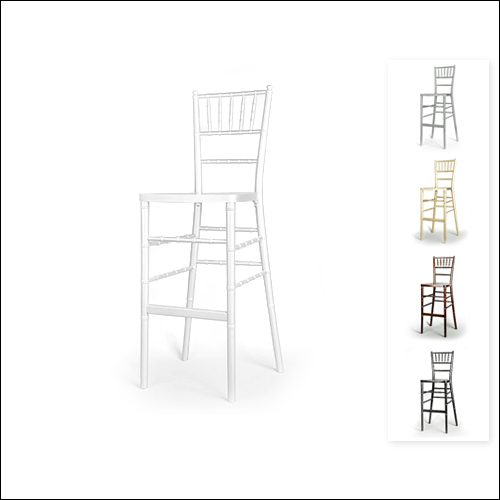 Chivari Bar Height Chair F-S-C-006-WHT