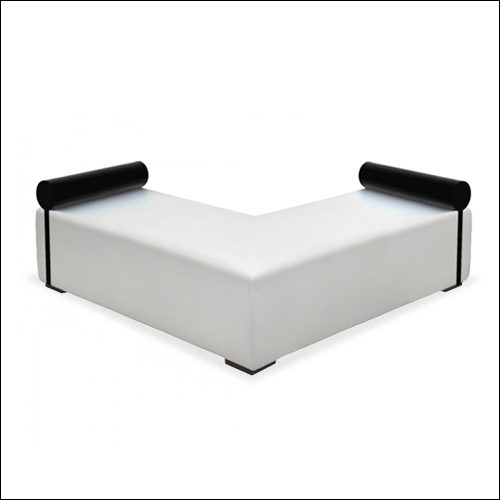 "Mod ""L"" Ottoman White with bolsters"