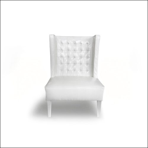 Retro-Mod Wing Back Club Chair (Single)-F-S-S-009