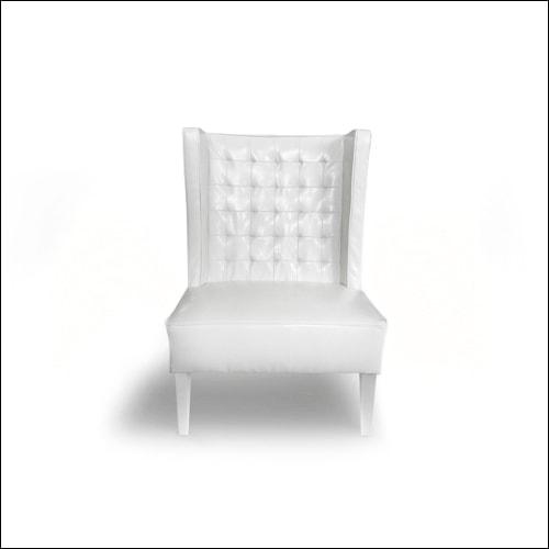 Retro-Mod Wing Back Club Chair (Single)-F-S-S-009
