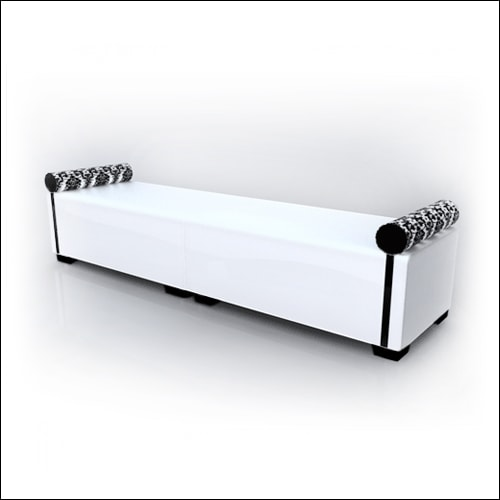 Straight MOD Ottoman Double White W Bolster