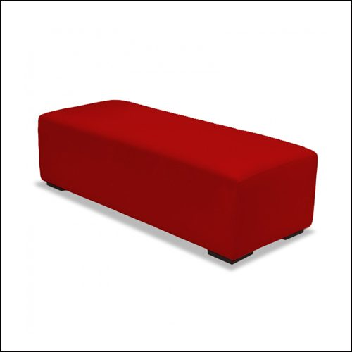 MOD Straight Ottoman Red