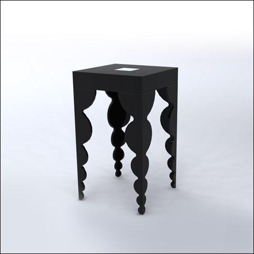 2x2x42-Bubble-Cocktail-Table-BLK-001