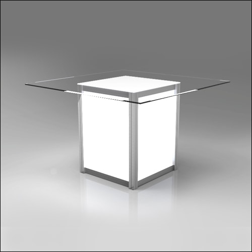 Mod Geo Illumina Dining Table F-T-DCD-042B-L