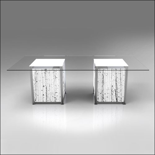 Mod Geo Illumina Dub Dining Table F-T-DCD-042Dub-L