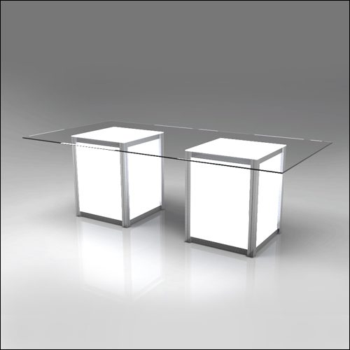 Mod Geo Illumina Dub Dining Table F-T-DCD-042DubB-L