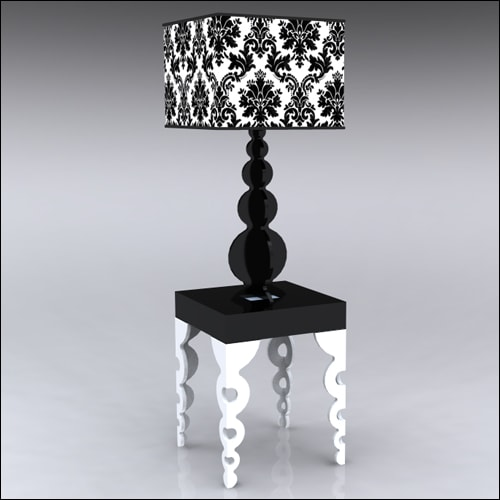 2x2x30-Links-Table-W-Lamp-WhiteBlack
