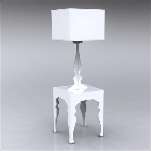 2x2x30-Neo-Baroque-Table-W-Lamp-WHT