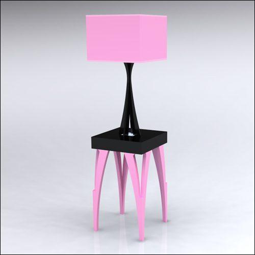 2x2x30-SplitV-Table-W-Lamp-PinkBlack