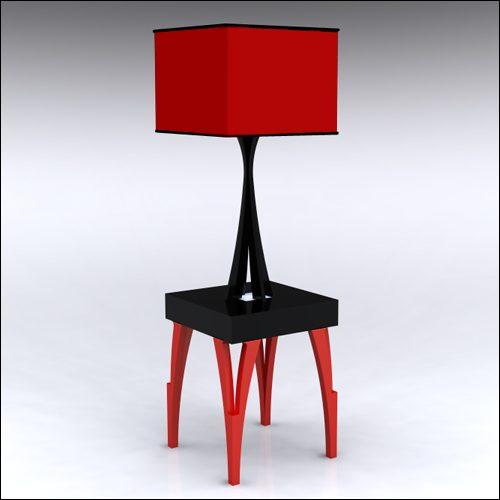 2x2x30-SplitV-Table-W-Lamp-RedBlack