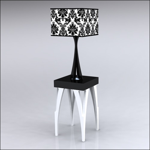 2x2x30-SplitV-Table-W-Lamp-WhiteBlack