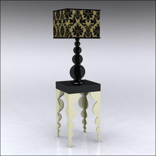 2x2x42-Bubble-Table-W-Lamp-GoldBlack
