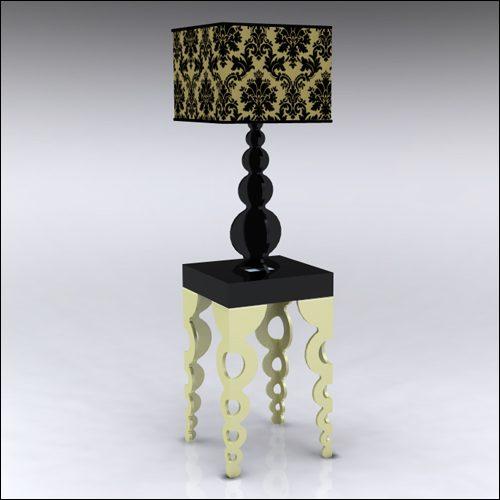 2x2x42-Links-Table-W-Lamp-GoldBlack