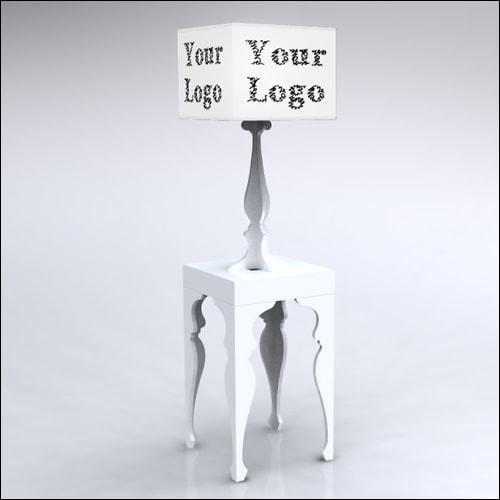 2x2x42-Neo-Baroque-Table-W-Lamp-WhiteCustom