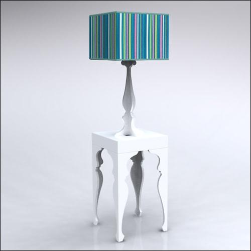2x2x42-Neo-Baroque-Table-W-Lamp-WhiteCustomPrint