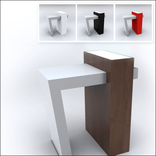 Mod-Trapeza Cocktail Table-Espresso