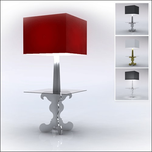 Neo-Baroque Profile Cocktail Table Lamp-Low-SQ