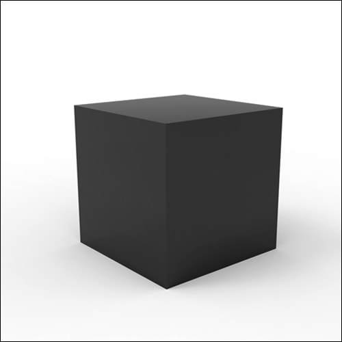 Black Cube Lounge End Display Table